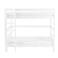 Biela detská poschodová posteľ z masívneho bukového dreva Mobi furniture Daniel, 200×90cm