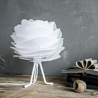 Biely polohovací stojan tripod na svietidlá VITA Copenhagen, výška 18,6 cm