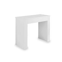 Biely rozkladací jedálenský stôl Design Twist Belize