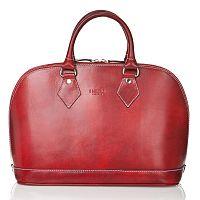 Červená kožená dámska kabelka Medici of Florence Rosalia