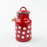 Červený smaltovaný džbán na mlieko Dakls, 2 l