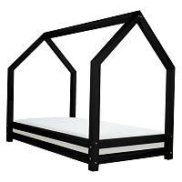 Čierna jednolôžková posteľ z borovicového dreva Benlemi Funny, 90×200cm