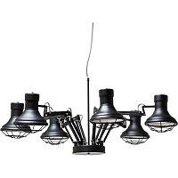 Čierne stropné svietidlo Kare Design MultiSpider