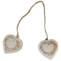 Dekorácia Antic Line Double Heart