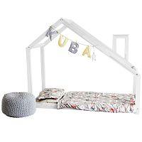 Detská biela posteľ s vyvýšenými nohami Benlemi Deny, 80x190cm, výška nôh 30cm
