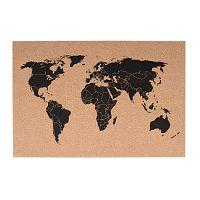 Korková nástenná mapa PT LIVING World, 60 × 40 cm