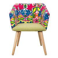 Kreslo s podnožou z kaučukového dreva Mauro Ferretti Hippie