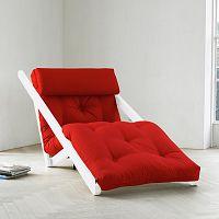 Leňoška Karup Figo, White/Red, 70 cm