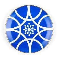 Modro-biely porcelánový tanier Vivas Larin, Ø23 cm