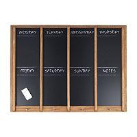 Nástenná tabuľa s týždenným plánovačom PT LIVING Wood, 80x60cm
