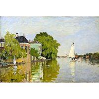 Obraz Claude Monet - Houses on the Achterzaan, 90×60 cm