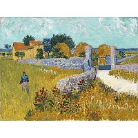 Obraz Vincenta van Gogha - Farmhouse in Provence, 40x30 cm