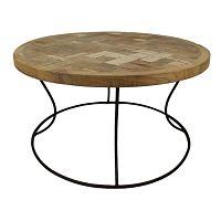 Odkladací stolík z teakového dreva HSM Collection Mosa, ⌀ 80 cm