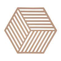 Oranžová silikónová podložka pod horúce nádoby Zone Hexagon