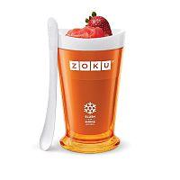 Oranžový výrobník ľadovej triešte Zoku Slush & Shake