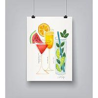 Plagát Americanflat Summer Cocktails, 30 x 42 cm