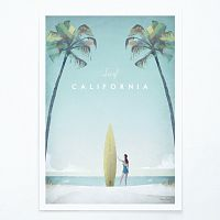 Plagát Travelposter California, A2