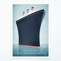 Plagát Travelposter Cruise Ship, A3