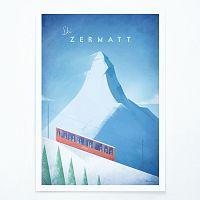 Plagát Travelposter Zermatt, A3