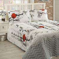 Pléd cez posteľ na dvojlôžko s obliečkami na vankúše Semspare, 200×220cm