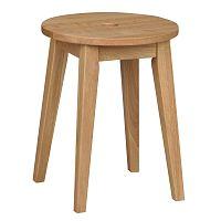 Prírodná dubová stolička Folke Gorgona, výška 44 cm