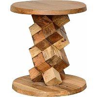Príručný stolík z mangového dreva Støraa Ashland, Ø 40 cm
