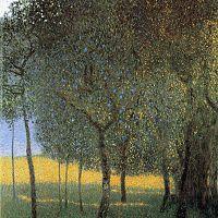 Reprodukcia obrazu Gustav Klimt - Fruit Trees, 45x45cm