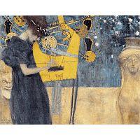 Reprodukcia obrazu Gustav Klimt - Music, 90x70cm