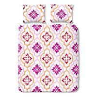 Ružové bavlnené obliečky na jednolôžko Müller Textiel Tiled, 140 x 200 cm