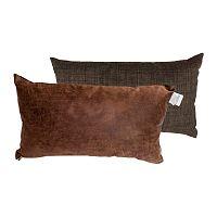 Sada 2 vankúšov s výplňou Karup Deco Cushion Choco/Choco, 45 x 25 cm