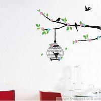 Samolepka Ambiance Flowering Tree With Birds