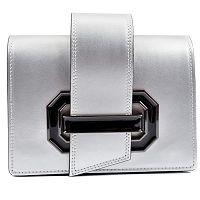 Sivá kožená kabelka Roberta M Lily Argento