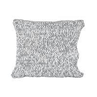 Sivo-biely vankúš Ego Dekor Double Knit,45x45cm