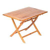 Skladací záhradný stôl s doskou z teakového dreva Massive Home Shankar