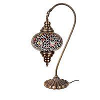 Sklenená ručne vyrobená lampa Oriental, ⌀17 cm
