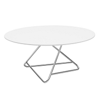 Stôl s bielou doskou Softline Tribeca,75cm