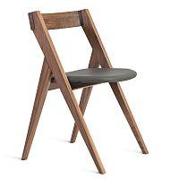 Stolička z masívneho orechového dreva Charlie Pommier Garibaldi