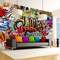 Veľkoformátová tapeta Artgeist Colourful Graffiti, 300×210 cm