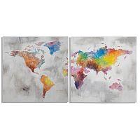 Viacdielny ručne maľovaný obraz Mauro Ferretti Crazy World, 200×100 cm