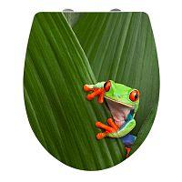WC sedadlo s jednoduchým zatváraním Wenko Frog, 45 x 38,8 cm