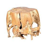 Záhradný konferenčný stolík z teakového dreva Massive Home Limb, ⌀50cm