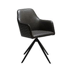 Antracitovosivá jedálenská stolička s opierkami na ruky DAN-FORM Denmark Twine