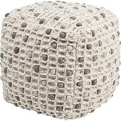 Béžový puf Kare Design Pebbles