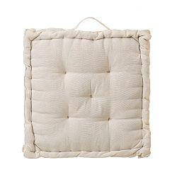 Béžový vankúš / podsedák z bavlny Unimasa, 45 x 45 cm