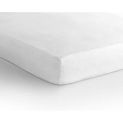 Biela elastická plachta Sleeptime, 140×200 cm