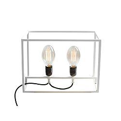 Biela stolová lampa Custom Form Metric