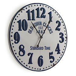 Biele nástenné hodiny Geese Standard, Ø 90 cm