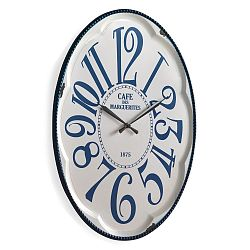 Biele nástenné hodiny Geese Standard
