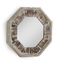Biele nástenné zrkadlo Geese Vintage, 73×73 cm