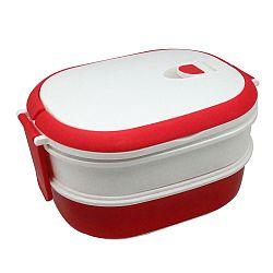 Bielo-červený desiatový box JOCCA Lunchbox